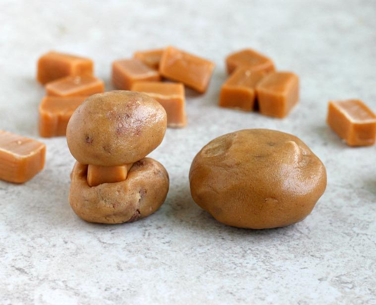 Caramel Stuffed Tofee Peanut Butter Cookies  Fabtastic Eats