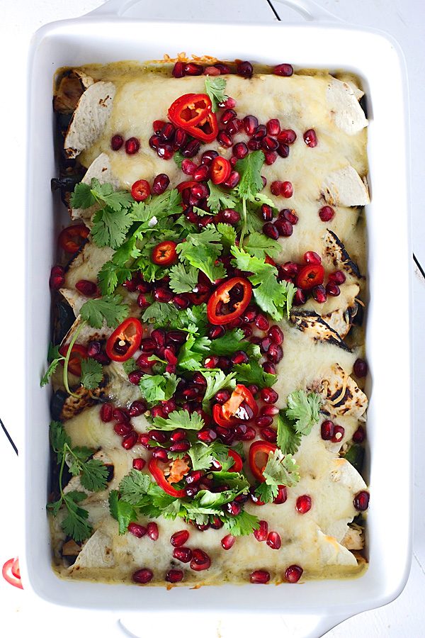 Sweet-and-Spicy-Pomegranate-and-Poblano-Chicken-Enchiladas-4