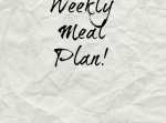 Meal Plan!