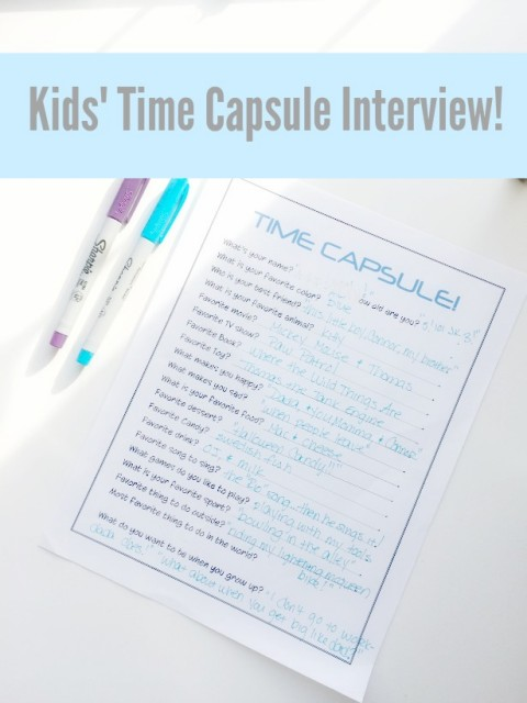 Kids Time Capsue Interview!