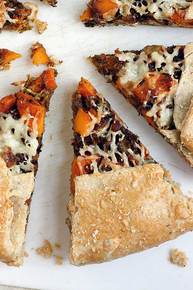 Brussels Sprout and Sweet Potato Galette   Fabtastic Eats