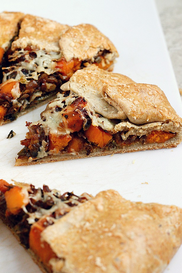 Brussels Sprout and Sweet Potato Galette | Fabtastic Eats
