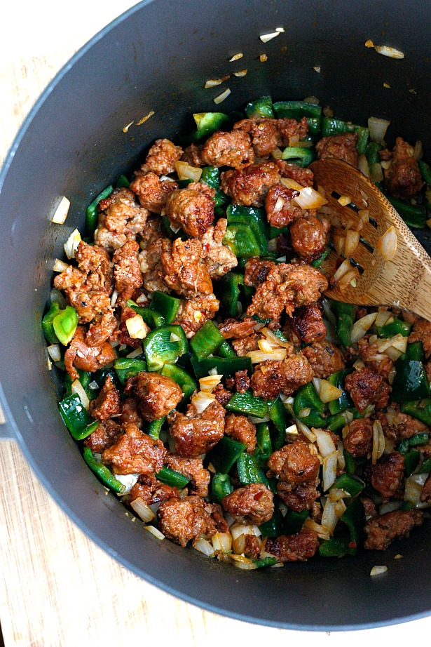 Spicy Chorizo and Poblano Chili | Fabtastic Eats