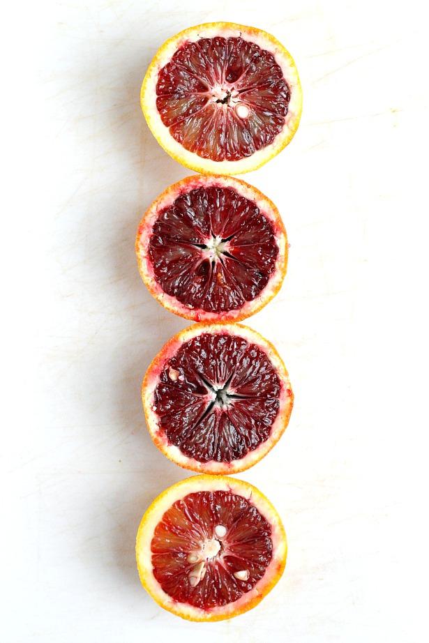 Glazed Blood Orange Blondies | Fabtastic Eats