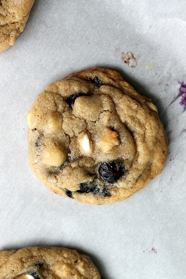 Blueberry and Cream Cookies   Fabtastic Eats