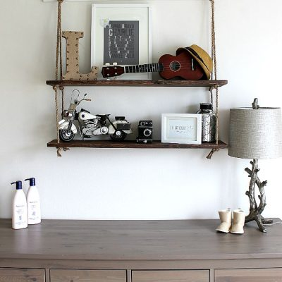 DIY Rope Shelving
