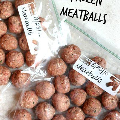 Homemade Frozen Meatballs