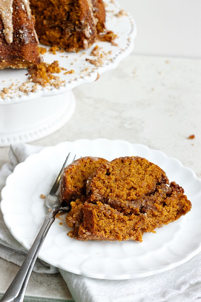 Glazed Pumpkin Coffee Cake | Fabtastic Eats