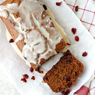 Pumpkin Cranberry Bread with a Cider Glaze | Fabtastic Eats