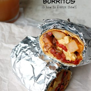 Freezer Chipotle Breakfast Burritos | Fabtastic Eats
