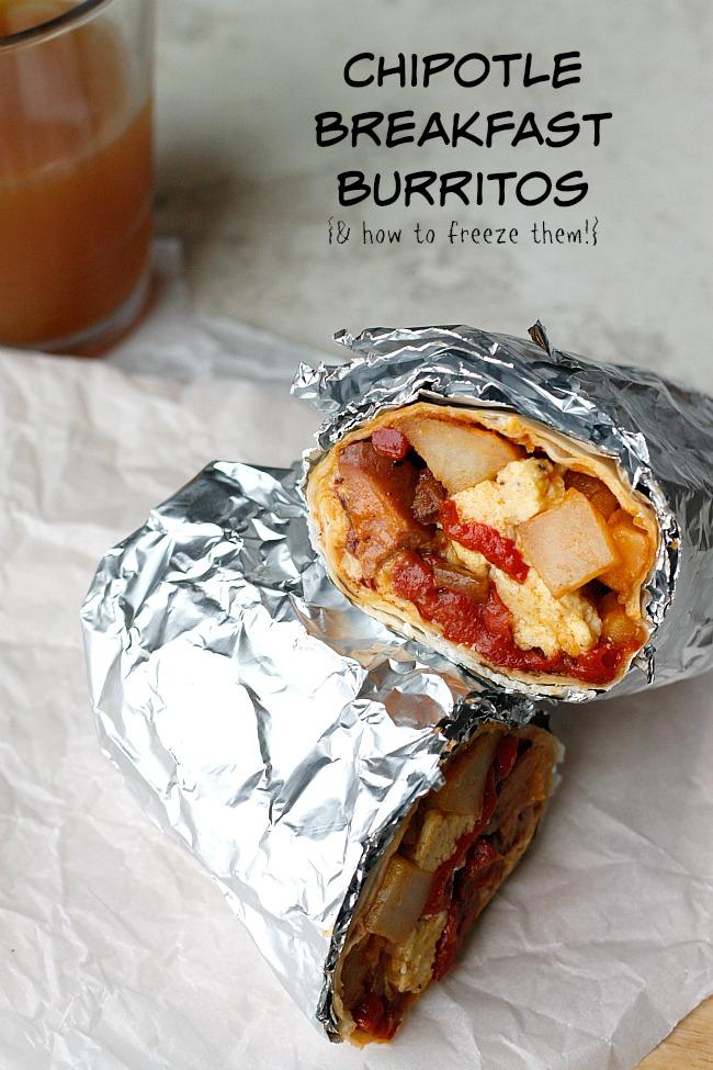 Freezer Chipotle Breakfast Burritos | Fabtastic Eats
