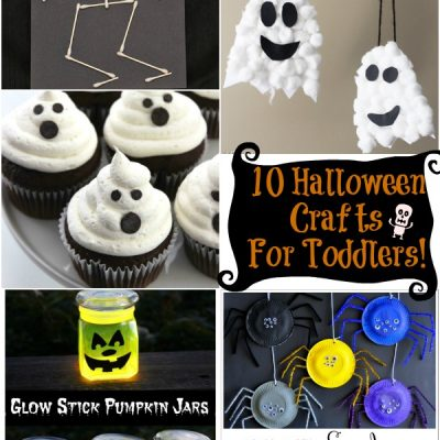 10 Halloween Crafts for Toddlers!