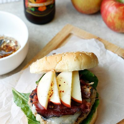 Autumn Turkey Burger with Spicy Honey Drizzle
