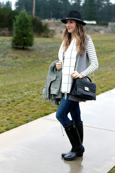 Rainy Day Christmas Shopping Outfit