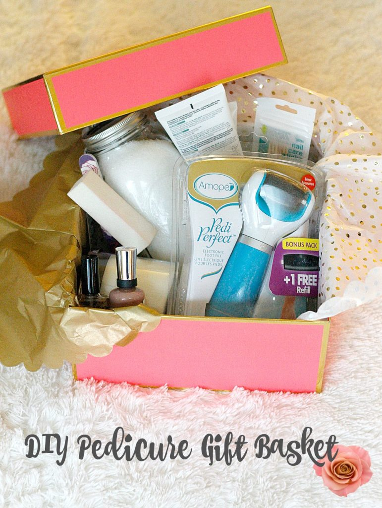 DIY Pedicure Gift Basket