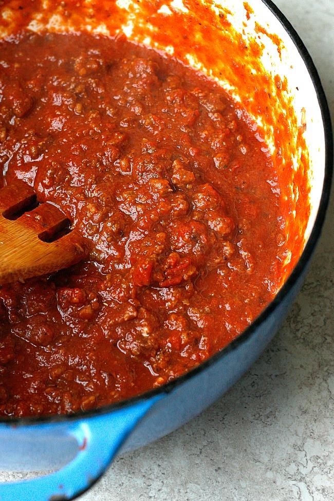Cheesy Sausage and Spaghetti Squash Bake | Fabtastic Eats