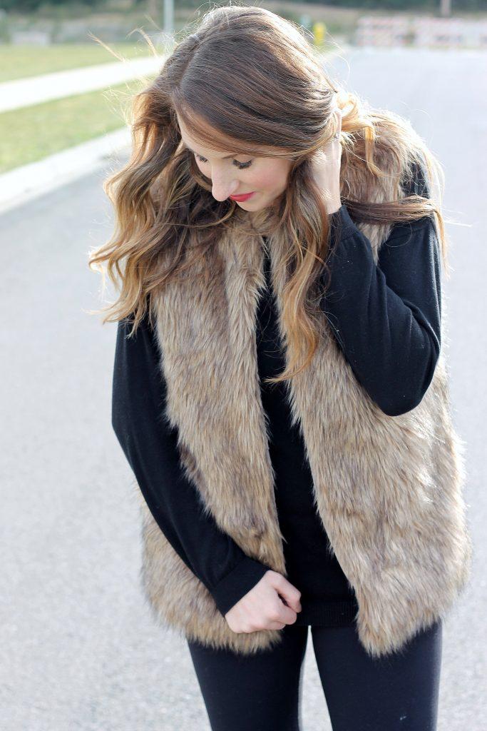 Faux Fur Vest | Belle Vie