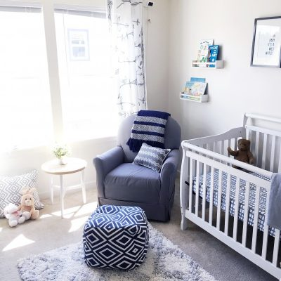 Baby B's Grey & White Nursery
