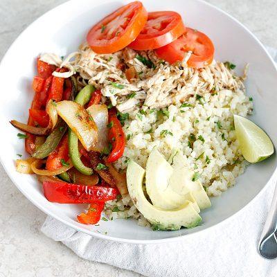 Chicken Fajita Bowl (gluten-free, paleo)