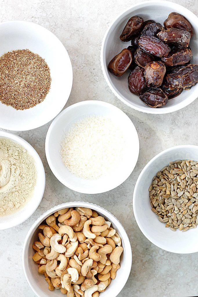 Cashew Coconut Protein Bites