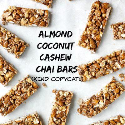 Homemade KIND Bars: Almond Coconut Cashew Chai Bars