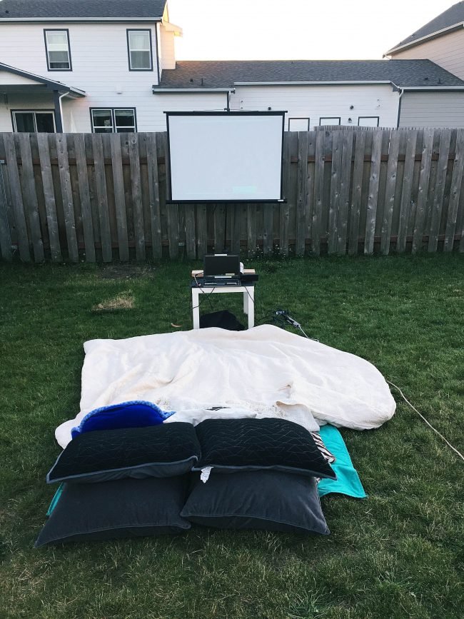 An outdoor movie night is fun for the whole family, and your friends, and definitely something you should add to your summer bucket list!