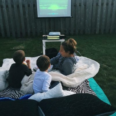 Our Outdoor Movie Night