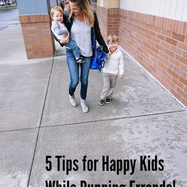 5 Tips for Happy Kids While Running Errands!