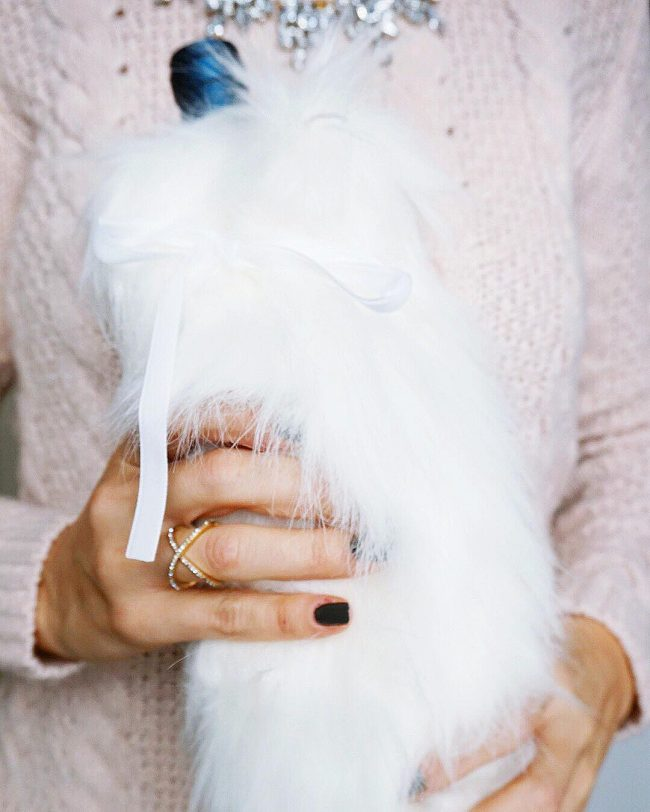 Faux Fur Wine Bag! Under $10!