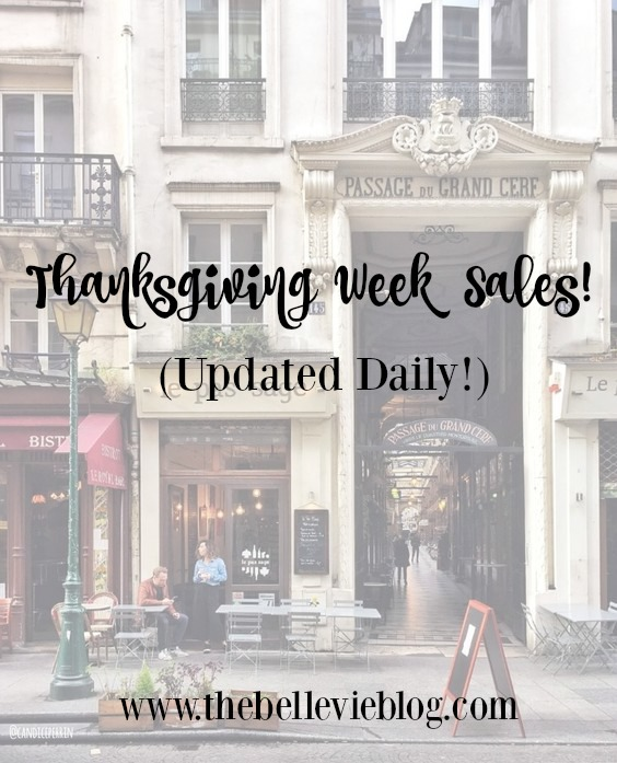Thanksgiving Week Sales! (Updated Daily!)