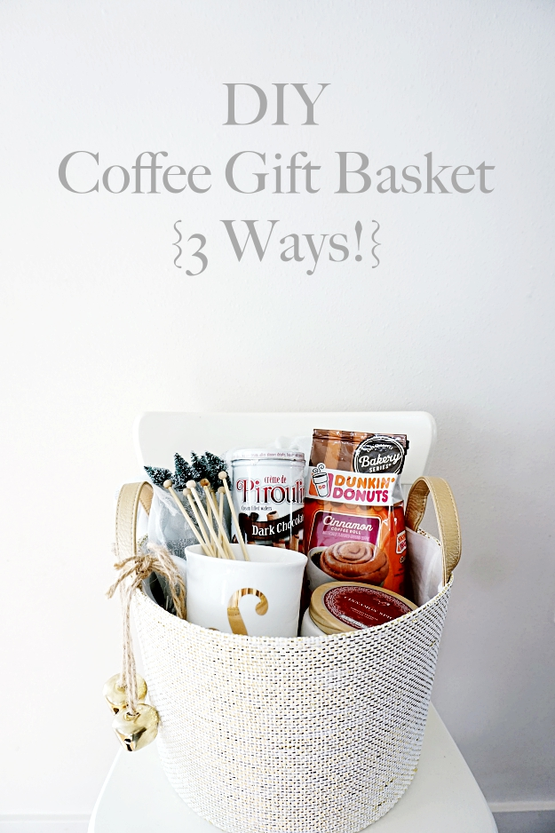 Diy Coffee Gift Basket 3 Ways Belle Vie