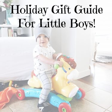 Holiday Gift Guide for Little Boys!