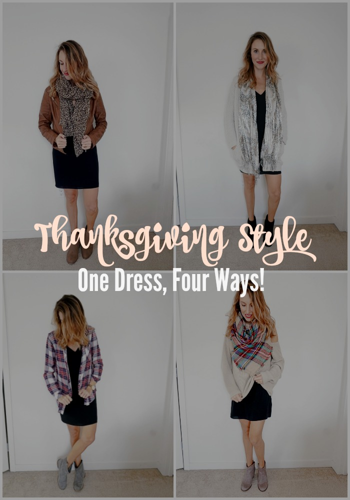 Thanksgiving Style: One Dress, Four Ways!